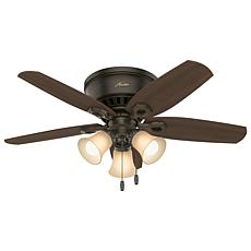 "Hunter 42"" Builder Low Profile Ceiling Fan with  Lights - New Bronze"