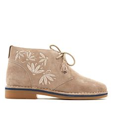 Hush Puppies Cyra Catelyn Embroidered Suede Bootie