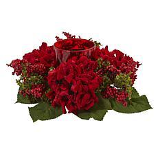 Hydrangea  and Berry Candelabrum