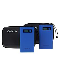 iDeaPLAY Jump Starter and Power Bank with Digital Display 2-pack