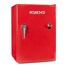 Igloo 2.6 Cu. Ft. Classic Compact Single Door Red Refrigerator Freezer