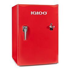 Igloo 2.6 Cu. Ft. Classic Compact Single Door Red Refrigerator Freezer