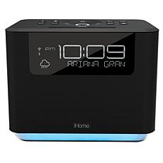 iHome Bedside Bluetooth Clock System with Voice-Command