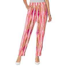 IMAN City Chic Printed Ankle Pant