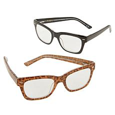IMAN Global Chic 2-pack Square Leopard Print Readers