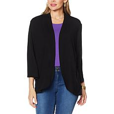 IMAN Global Chic 3/4-Sleeve Open Front Knit Cardigan