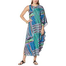 IMAN Global Chic Asymmetric Caftan Dress