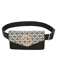 IMAN Global Chic Convertible Logo Belt Bag