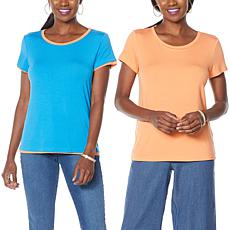 IMAN Global Chic Double Layer Tee