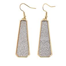 IMAN Global Chic Goldtone Glitter Drop Earrings