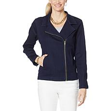 IMAN Global Chic Illusion Denim™ Moto Jacket