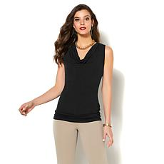 IMAN Global Chic Luxurious Cowl-Neck Tank