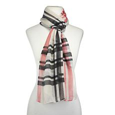 IMAN Global Chic Luxurious Plaid Scarf