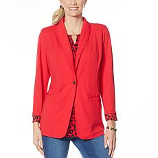 IMAN Global Chic Luxury Resort Blazer with Printed Cuffs