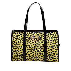 IMAN Global Chic Luxury Resort Leopard-Print Tote