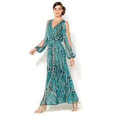 IMAN Global Chic Luxury Resort Printed Maxi Dress