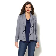 IMAN Global Chic Perfect Ponte Draped Jacket