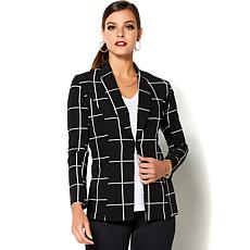 IMAN Global Chic Polished to Perfection Side Slit Blazer