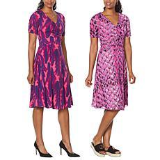 IMAN Global Chic Reversible Short-Sleeve Dress