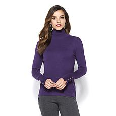 IMAN Global Chic Touch of Gold Signature Soft Knit Turtleneck