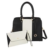 IMAN Global Chic Triple Compartment Tote with Wristlet
