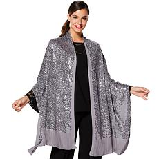 IMAN Global Wrap Yourself in Luxury Sequin Holiday Wrap