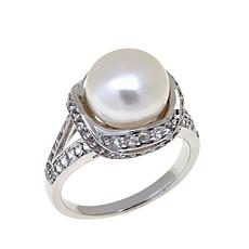 Imperial Pearls 10-11mm Cultured Pearl & Topaz Ring