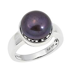 Imperial Pearls 11-12mm Peacock Cultured Pearl Solitaire Ring