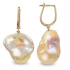 Imperial Pearls 14K Rose Gold Pink Baroque Cultured Pearl Earrings