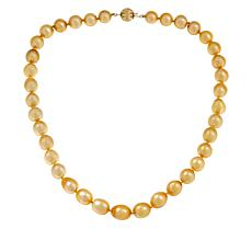 "Imperial Pearls 18"" 10-13mm Golden South Sea Cultured Pearl Necklace"