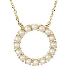 "Imperial Pearls 18"" 14K Cultured Seed Pearl Circle Necklace"