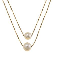 Imperial Pearls 7.5-8.5mm Cultured Pearl 14K 2-Tier Necklace