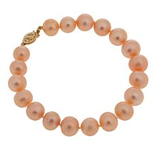 "Imperial Pearls 8.5-9.5mm Blush Cultured Pearl 14K 7-1/2"" Bracelet"