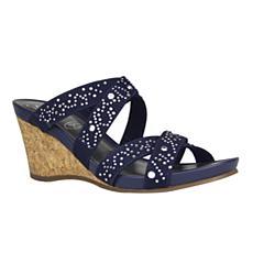 IMPO Veradis Stretch Wedge Sandal with Memory Foam