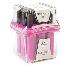 ImpressArt Bridgette Stamps Numbers with Storage Case