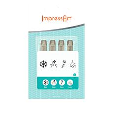 ImpressArt Christmas Design Stamp Set 4-pack