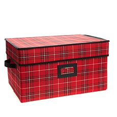 Improvements Red Plaid 72-count Ornament Box