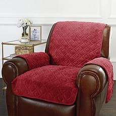 Improvements Secure Fit Plush Recliner Protector