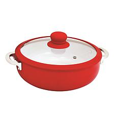 IMUSA 6.9-Quart Ceramic Nonstick Caldero with Glass Lid - Red