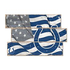 Indianapolis Colts Flag 3 Plank