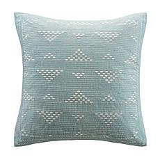 "INK+IVY Cairo Embroidered 18""x18"" Square Pillow - Blue"