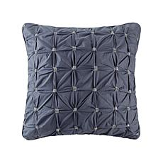 "INK+IVY Jane Cotton Embroidered Euro Sham - Navy - 26"" x 26"""