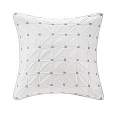 "INK+IVY Jane Cotton Embroidered Euro Sham - White - 26"" x 26"""