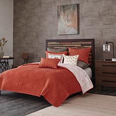 INK+IVY Kandula Cotton 3pc Coverlet Mini Set - Coral - Full/Queen