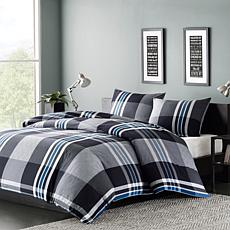 INK+IVY Nathan Cotton Duvet Cover Mini Set - Grey -  Twin