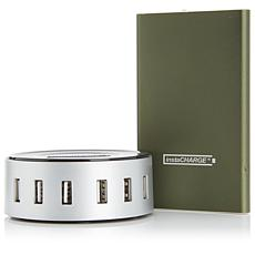 instaCHARGE 4600mAh Portable Device Charger and 6-Port USB Hub