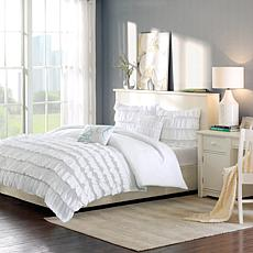 Intelligent Design  Waterfall Comforter Set White Twin/Twin XL