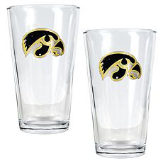 Iowa Hawkeyes 2pc Pint Ale Glass Set