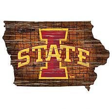 Iowa State Distressed State with Logo