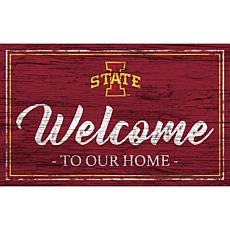 Iowa State University Team Color Welcome Sign - 11x19""